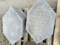 GREY ANGULAR STEPPING STONES 14 NO